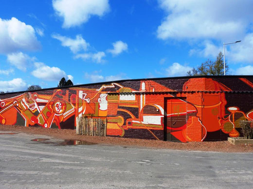 Amiens:  grande fresque murale- Photo: Mariedolly
