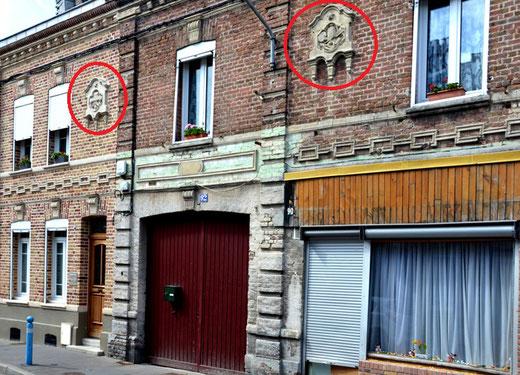 Ancienne façade de la boulangerie au 90 rue de l'Union à Amiens