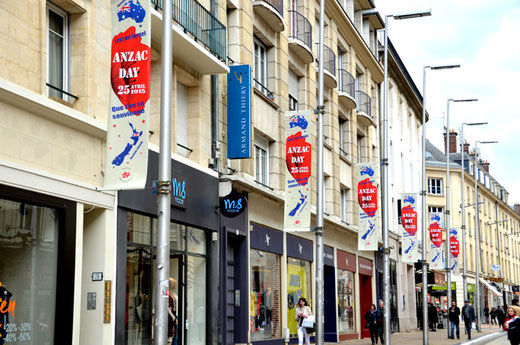 Rue des Trois Cailloux-Amiens. L'Anzac-Day
