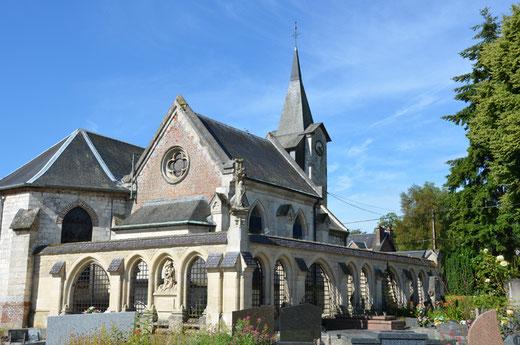 Enclos funéraire de la famille de Berny à Ribeaucourt