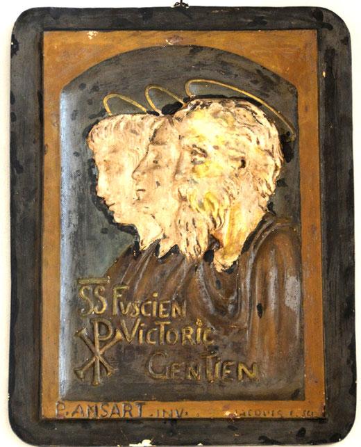 Tableau des trois martyrs- Sculpture de Jacques C. sur un dessin de Pierre Ansart