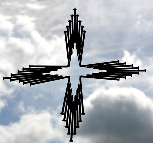 La croix grecque de la réderie d'Amiens , le 22 avril 2018