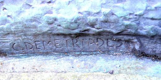 La signature du sculpteur grec: Costas Demetriades