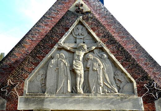 Le tympan de l'église d'Arvillers