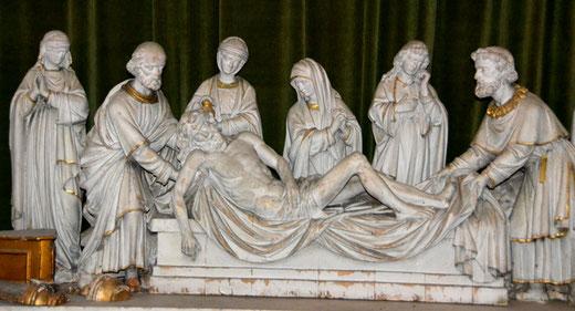 Mise au tombeau dans l'église Saint-Martin d'Amiens