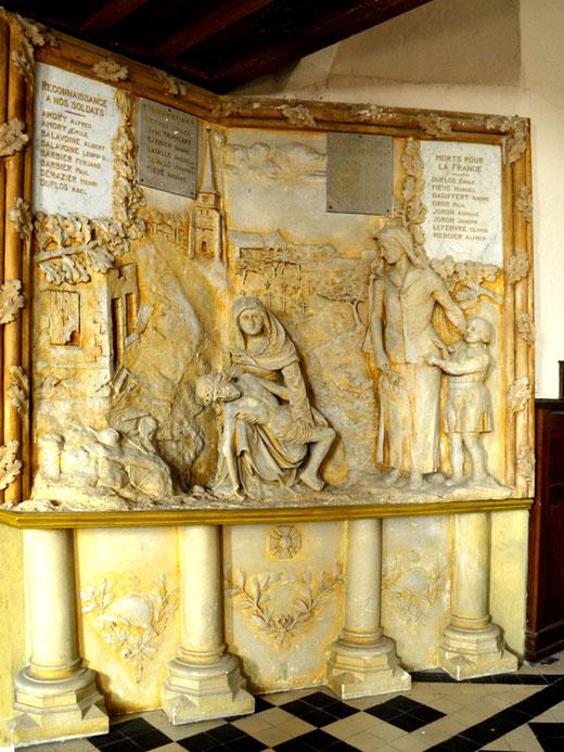 Monument aux morts de l'église Saint-Martin d'Etelfay