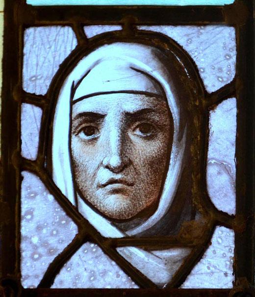 Morceau de vitrail de l'ancienne église de Beaumont-Hamel