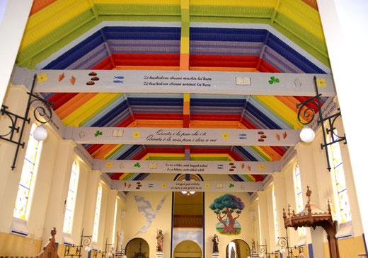 Eglise de Guillemont avec sa voûte arc-en-ciel