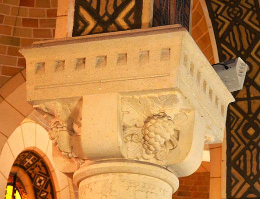 Chapiteau de l'église de Coullemelle
