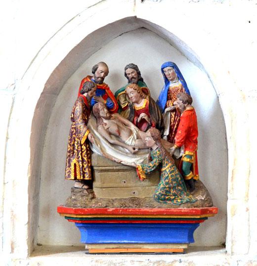 Mise au tombeau dans l'église d'Hescamps