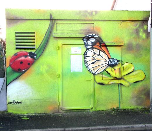 Fresque EDF par l'association, le 7e sens- Photo: Jacques Fouré