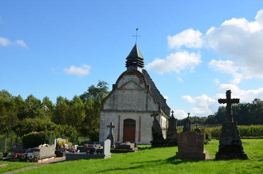 Façade de l'église de Frohen-le-Petit
