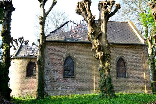 La chapelle de Cottenvillers après l'incendie de mars 2017