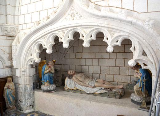 Mise au tombeau: église de Gueschart