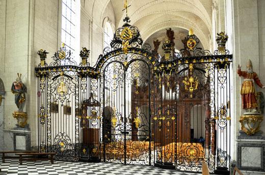 Les grilles de la chapelle de l'abbaye de Valloires