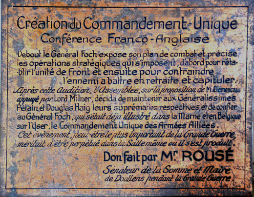 Plaque du Commandement Unique