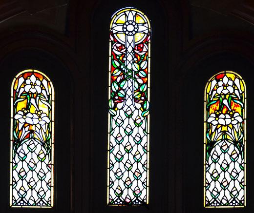 Amiens- Hôtel Bouctot-Vagniez- Les vitraux de la chapelle