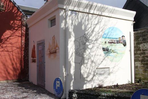 Fresque sur un transformateur EDF au Crotoy-Ph: Christiane Sellez