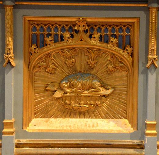 Détail de l'autel: église de Toeufles