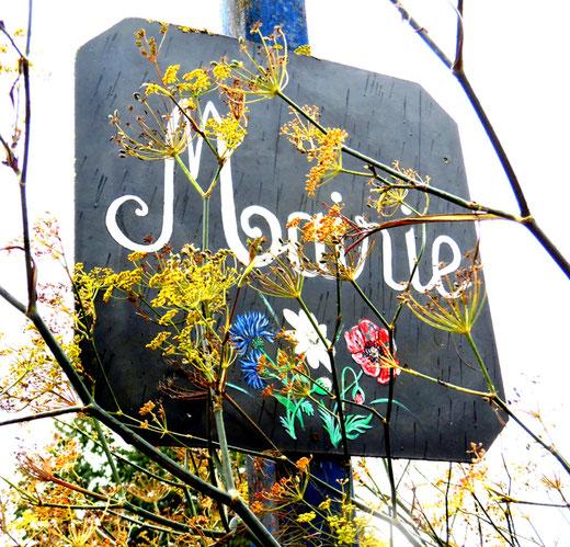 l'enseigne fleurie de la mairie du Mazis- Photo: Gégé d'Oisemont