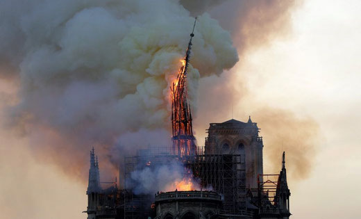 15 avril 2019: Notre-Dame de Paris- Photo: Geoffrey Van der Hasselt