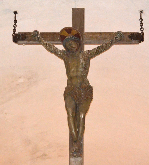 Une croix du 17e siècle dans l'église Sainte-Radegonde de Péronne