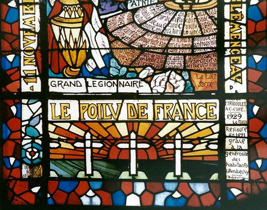 Détail du vitrail d'Andechy- Photo: Rémy Godbert