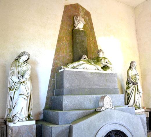 Cimetière de Doullens: la sépulture Maille-Houbart