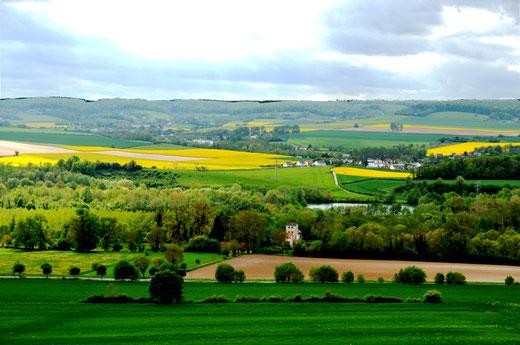Aux alentours de Bouttencourt: vue sur la vallée de la Bresle