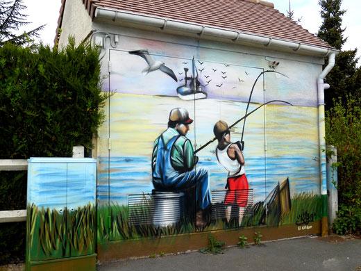 Fresque edf à Picquigny- Photo: Gégé d'Oisemont