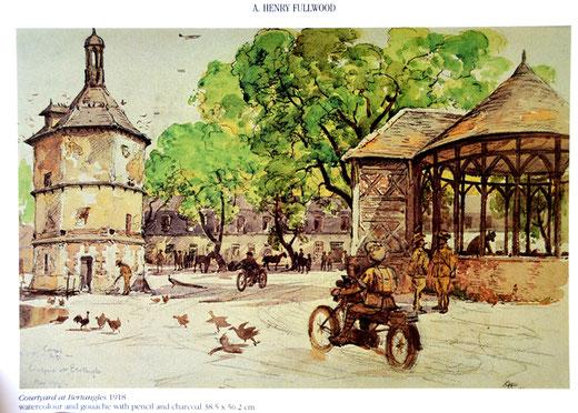 1918: le peintre australien Henry Fulwood a signé ce tableau de la ferme de Bertangles