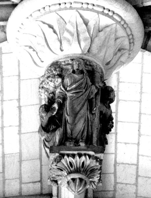 Eglise de Fontaine-sur-Somme. Clé pendante: le Paradis