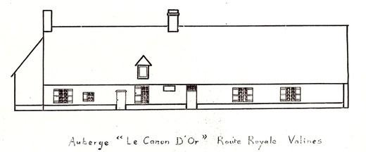 """A l'auberge du """"Canon d'Or"""" à Valines-Reconstitution de Jean-Luc Leclercq"""
