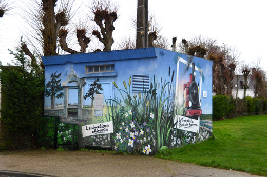 Le cimetière de Nolette et le petit train de la baie de Somme