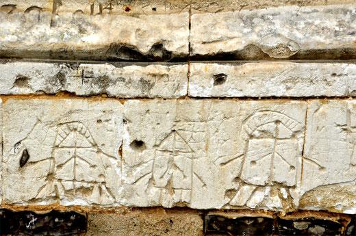 Graffiti de moulins sur les murs de l'église de Witainéglise (Framicourt)