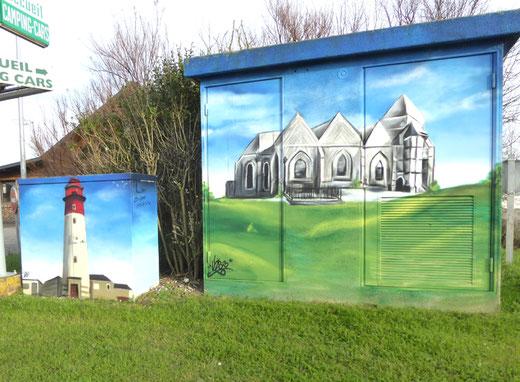 Cayeux-sur-mer: le phare et la vieille église
