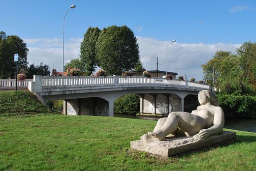 Abbeville: le pont de la femme nue sur les bords de la SOMME