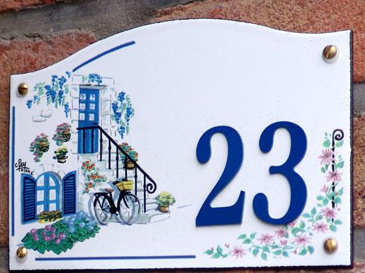 Boulevard Baraban à Amiens: plaque Totem émaillée avec la signature du fabricant