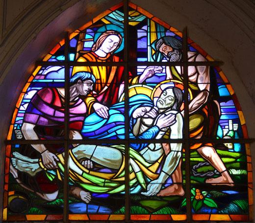 Mise au tombeau dans l'église de Franleu- Maître-Verrier: Pasquier
