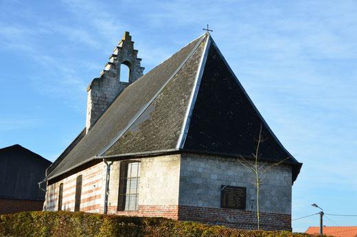 Chapelle Saint-Brice de Luchuel sans sa cloche mise à l'abri