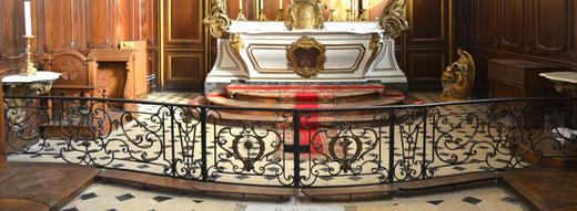 Les grilles du choeur- Chapelle de l'Hôtel-Dieu de Saint-Riquier