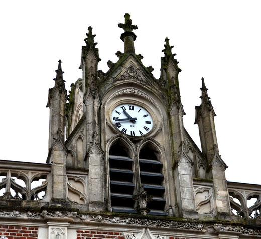 L'horloge de l'Hôtel de Ville d'Auxi-le-Château