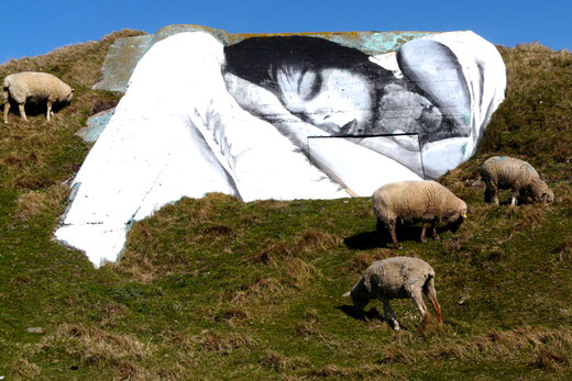 Fresque sur la falaise de Mers-les-Bains- Photo: Patrice Lenne