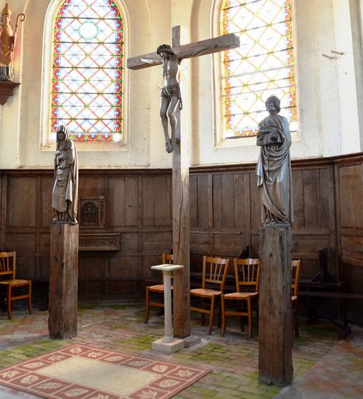 La poutre de gloire de l'église de Brailly-Cornehotte