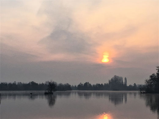 Le lever du soleil à Vieulaines- Photo: Claude Martin