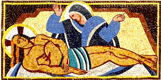 Mise au tombeau dans l'église de Faverolles