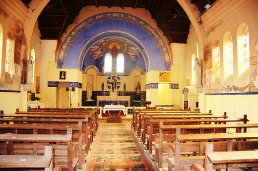 Intérieur de l'église Saint-Vast de Bécordel-Bécourt