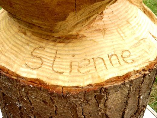 et le nom du sculpteur: Stienne-  Photo: Gégé d'Oisemont