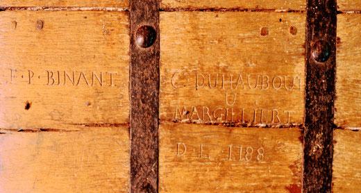 Avec les signatures des marguilliers: F-P BINANT; C-DUHAUBOUT- 1788