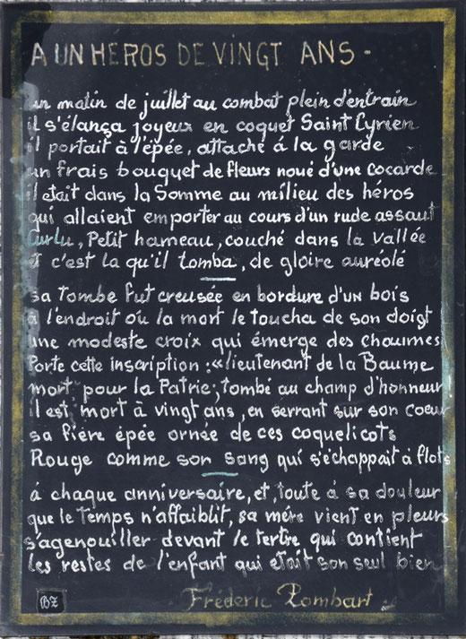 Cimetière de Curlu- Photo Jean Peuvion